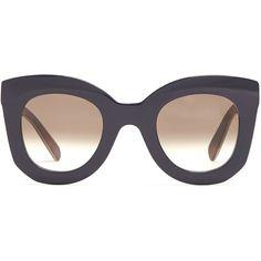 825a3f4e5511 Céline Eyewear Marta cat-eye acetate sunglasses (1.090 BRL) ❤ liked on  Polyvore