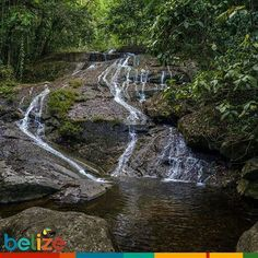 Your very own waterfall to relax. #SouthernBelize