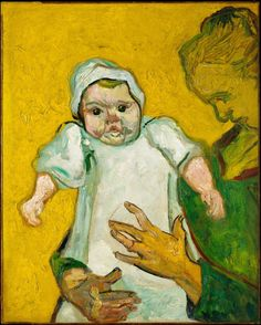 """""""Madame Roulin and Her Baby"""" by Vincent van Gogh, 1888."""