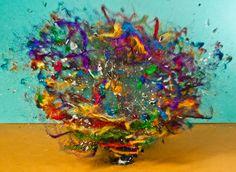 Exploding ball of yarn