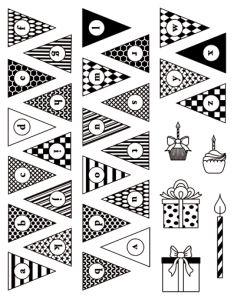 artemio sellos acrilicos banderines cumpleaños
