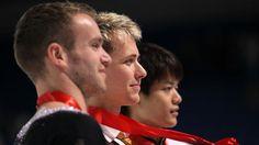 The profiles of the men's medalists at 2011 Skate America: Kevin van der Perren, Michal Brezina and Takahiko Kozuka.