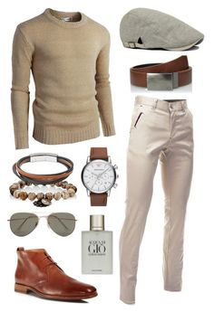"""""""Gio"""" by sirianmei ❤ liked on Polyvore featuring Kenneth Cole, Vince, Emporio Armani, Miracle Icons, FOSSIL, Giorgio Armani, SELECTED, men's fashion and menswear"""