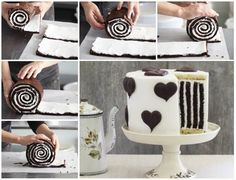 #recipe for chocolate stripe cake--> http://wonderfuldiy.com/wonderful-diy-amazing-chocolate-stripe-cake/ #diy #cake