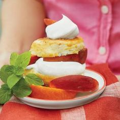 Boozy Peach Shortcakes with Sweet Cream | MyRecipes.com