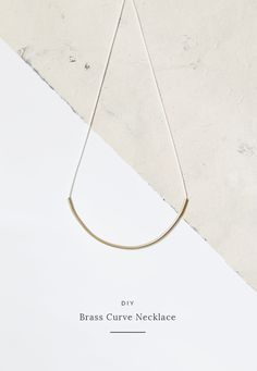 DIY brass curve necklace