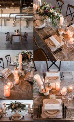 industrial organic wedding tables cape inspiration! www.stanleymarketplace.com/hangar/ venue The Hangar at Stanley/ floral + design Cheri Taunton, Southern Charm Wedding and Events/ event planner + design Danielle Odil, Entwined Events/ hair + makeup Rachael Peffer, Glam Team Colorado/ cake Sugar Plum Cake Shoppe/ rentals Colorado Party Rentals/ invitations + paper goods Tasha Rae Designs/ groom's suit Armani/ bridal gown The Bridal Collection/