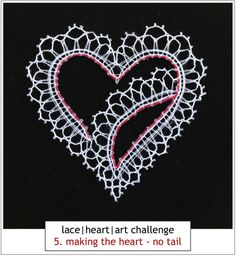 Hairpin Lace Crochet, Crochet Motif, Crochet Edgings, Crochet Shawl, Bobbin Lace Patterns, Bead Loom Patterns, Lace Heart, Heart Art, Lace Earrings