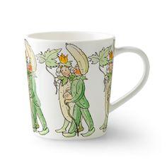 Mr & Mrs Cucumber mug with handle - 40 cl - Design House Stockholm