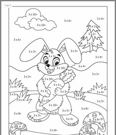 Spring Math Coloring Sheets - Spring Math Coloring Sheets, Coloring Pages Colouring In Maths Game Math Facts Easter Math Coloring Worksheets, Kids Math Worksheets, Preschool Activities, Math For Kids, Fun Math, Coloring Sheets, Coloring Books, Math Exercises, Math Multiplication