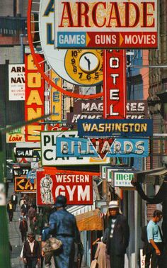 signs from Vancouver by Fred Herzog Stephen Shore, Walker Evans, William Eggleston, Vancouver, Saul Leiter, Robert Frank, Color Photography, Street Photography, Vintage Photography