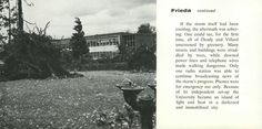 Pt. 4 of recap of 1962 Columbus Day Storm (Typhoon Frieda) destroyed most of the trees on campus, damaged buildings, and killed two students. From the 1963 Oregana (University of Oregon yearbook). www.CampusAttic.com