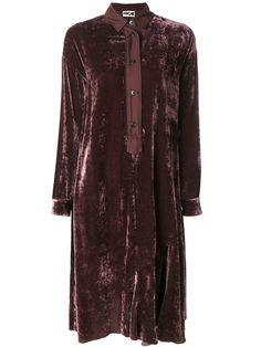 Купить Hache бархатное платье-рубашка.