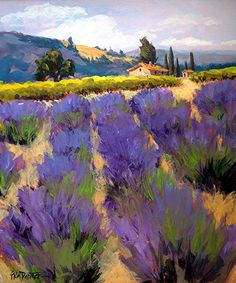 Sonoma Lavender by Erin Dertner Acrylic ~ 22 x 18