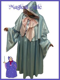 Custom Boutique Halloween Cinderella Fairy Godmother  Costume Set Adult Size. $225.00, via Etsy.