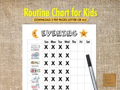 23 best printable kid s routine charts printable family chore chart