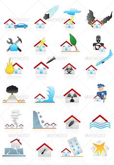 Realistic Graphic DOWNLOAD (.ai, .psd) :: http://realistic-graphics.xyz/pinterest-itmid-1005181339i.html ... House Disaster Icons ...  accident, black, bomb, bug, car, computer icon, disaster, earthquake, explosion, fire, flood, house, icon, insurance, lighting, natural disaster, set, symbol, thief, tornado, volcano  ... Realistic Photo Graphic Print Obejct Business Web Elements Illustration Design Templates ... DOWNLOAD :: http://realistic-graphics.xyz/pinterest-itmid-1005181339i.html