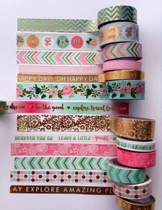 ***PLEASE READ SHOPS POLICIES. THESE ARE TAPE SAMPLES, NOT FULL ROLLS!!! For this listing 4 non foil tapes: D,F,I,J samples will be 24 long, and for the foil ones the length will be of 18 inches. All samples will come on a laminated washi on the go card. THANKS FOR STOPPING BY