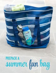 """""""What to Pack in Your Family Beach Bag"""" - always be ready for an adventure!"""