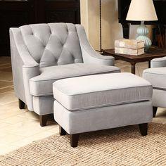 Emily Arm Chair and Ottoman | Wayfair