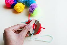 Step 3 of Pom Pom Cake Toppers by Kitiya Palaskas on Crafttuts+