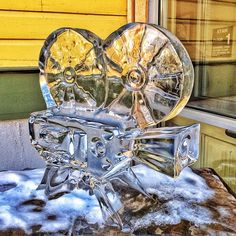 Cool ice sculpture at the Sundance Film Festival in Park City