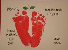 Adorable apple feet
