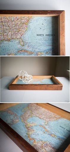 Helping You Design and Build Things Map Crafts, Wood Crafts, Diy And Crafts, Wooden Diy, Handmade Wooden, Wooden Trays, Diy Wood, Handmade Home Decor, Handmade Decorations