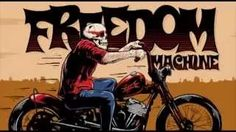 Promo video for the 2015 Freedom Machine Custom Motorcycle Show based on the poster illustration. www.bofagroup.com Mystery Train, Breath Of Fresh Air, Freedom, Motorcycle, Illustration, Poster, Design, Liberty, Political Freedom