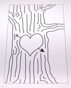 Heart Tree Carving Embroidery by The Modern Lady Embroidery Hearts, Hand Embroidery Patterns, Applique Patterns, Embroidery Applique, Cross Stitch Embroidery, Embroidery Designs, Family Tree Quilt, Heart Tree, Tree Carving