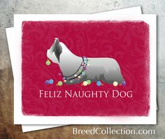 Skye Terrier Dog Christmas Card from the Breed Collection - Digital Download