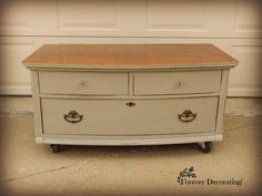 Forever Decorating!: Legless Dresser with a surprise!