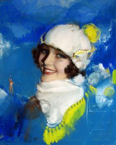 Call of the North - by pin-up artist ©Rolf Armstrong (MuseumSyndicate) Rolf Armstrong, Megan Hess, Josephine Wall, Gil Elvgren, Marlene Dietrich, Vintage Art, Vintage Ladies, Vintage Paintings, Vintage Illustration Art