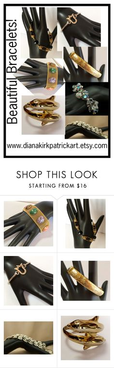 """""""Beautiful Bracelets!"""" by diana-32 ❤ liked on Polyvore featuring Sarah Coventry, CORO, vintage, jewelry, PhotoChallenge, vintagejewelry, VintageBracelet and teamlove"""