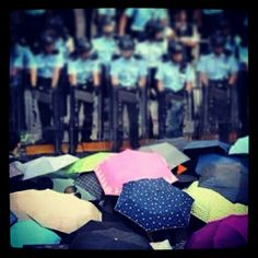 Umbrella revolution Hong Kong.September 2014