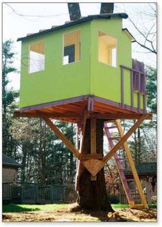 Tree house on pinterest tree house plans tree houses for Free treehouse plans and designs