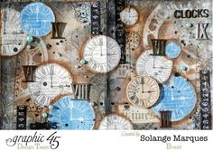 Art Journal by Solange Marques. Graphic 45 Times Nouveau Deluxe Collector's Edition (1)