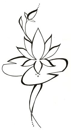 Lotus+Lilypad+Original+Tattoo+Design+by+silverwingstattoos+on+Etsy,+$18.00