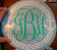 beautiful #monogram #decals right price! Www.anchorNChrist.com