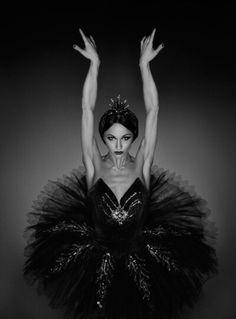 Black tutu and perfect swan arms.