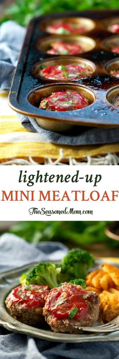 Lightened-Up Mini Meatloaf is an easy, family-friendly, and healthy dinner! This low-calorie comfort food will nourish your body, mind, and soul! #JoyInTheKitchen #ad