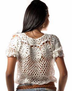 Hooked on crochet: Crochet top and dress / Blusa e vestido de crochê