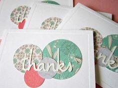 Handmade cartões de agradecimentos 4 unidades por shellsmark na Etsy por Divonsir Borges