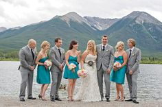 A perfect candid wedding party group. These shots are my favourite!