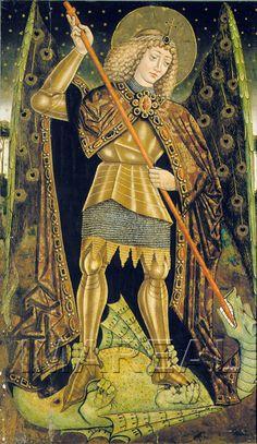 Hl. Michael  Kunstwerk: Malerei-Holz ; Einrichtung sakral ; Flügelaltar-Werktagsseite  Dokumentation: 1460 ; 1480 ; Malincrav ; Rumänien ; Siebenbürgen ; Evang. Kirche  Anmerkungen: 190x105
