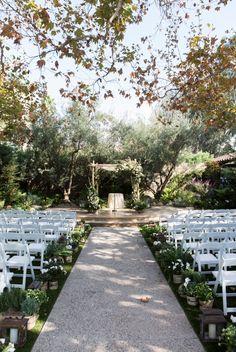 Secret garden ceremony: http://www.stylemepretty.com/california-weddings/los-angeles/2016/07/07/old-hollywood-meets-a-secret-garden-in-this-la-wedding/ | Photography: Ryon:Lockhart Photography - ryonlockhart.com