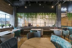 Charlie Pizza by is a new restaurant project designed by In Arch and is located in Kaunas, Lithuania. Photos by Leon Garbačauskas Deco Restaurant, Burger Restaurant, Restaurant Design, Cafe Concept, Hookah Lounge, Outdoor Furniture Sets, Outdoor Decor, Coffee Shop, Coffee Latte