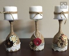 Items similar to Wine glass candle holders on Etsy