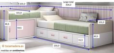 L Shape Two Twin Beds lower higher Bunk Bed Designs, Kids Bedroom Designs, Kids Room Design, Small Room Bedroom, Girls Bedroom, Bedroom Furniture, Bedroom Decor, Shared Bedrooms, Daughters Room