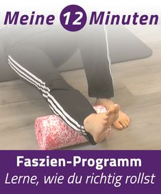 Fascia training: Roll properly-Faszientraining: Richtig rollen You can learn how to roll properly during fascia training in our fascia program - Fitness Workouts, Fitness Motivation, Easy Workouts, Fitness Diet, Yoga Fitness, At Home Workouts, Health Fitness, Health Advice, Strength Training